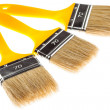 Group of construction paintbrushes — Stock Photo