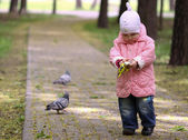 Walking baby in the park — Stock Photo