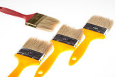 Construction paintbrushes — Stock Photo