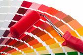 ペイント ローラーとカラーのサンプル — ストック写真