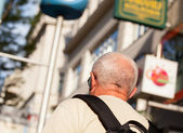 Tourist walks — Stock Photo