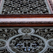 Metal ornament door — Stock Photo