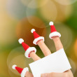Hand holding clear New Year card — Stock Photo #35783029