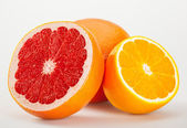 Fresh sliced fruits — 图库照片