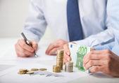 Accountants calculating profit — Stock Photo