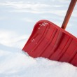 Red shovel for snow removal — Stock Photo #51211775