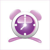 Purple clock — Stock Vector