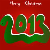 Новый год 2013 змея — Cтоковый вектор