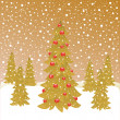 Stock Vector: Christmas forest