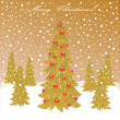 Christmas forest — Stock Vector #16518691