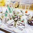 Carmelized chocolate apples — Stockfoto