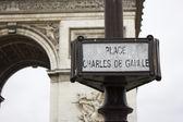 Arc De Triumph, Paris France — Stock Photo