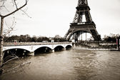 Eiffel tower monochrome square format — Stockfoto