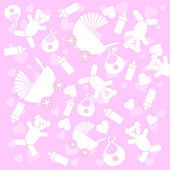 Background baby's objects — Stock Vector