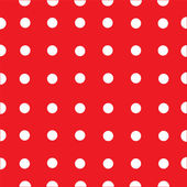 Red and White Polka Dot Fabric Background — Stock Vector