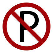Parking is not allowed forbidden sign — Stock Vector