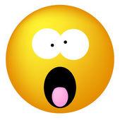 Shouting emoticon — Stock Vector