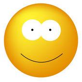 Happy Yellow Smiley Face — Stock Vector