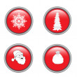 Christmas buttons — Stock Vector