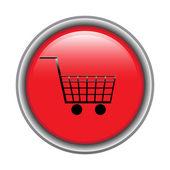 Shopping cart button — Stock Vector