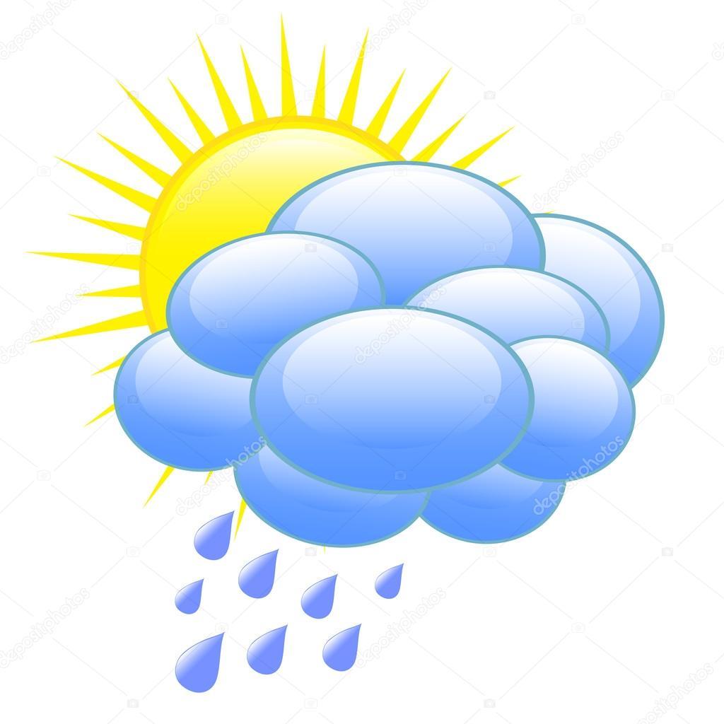 Weather forecast icon — Stock Vector © gabylya89 #31015795  Weather forecas...