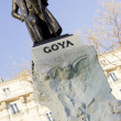 Statue of Goya in Madrid — Stock Photo