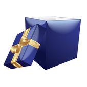 Blue Gift Box — Stock Vector