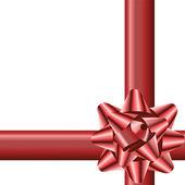 Bow and ribbon — Stock Vector