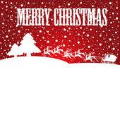 Santa claus sleigh — Stock Vector