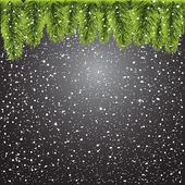 Christmas tree on black background — Stock Vector