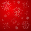 Snowflakes background in red — Stock Vector