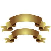 Gold Ribbons — Stock Vector