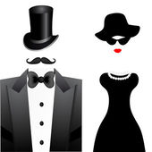 Fashion woman and man portrait — Stock Vector