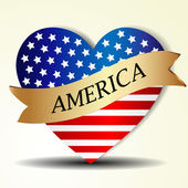 United States in heart — Stock Vector