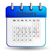 Februar kalender — Stockvektor