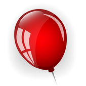 Red balloon — Stock Vector