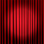 Theatre curtains — Stock Vector