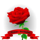 Flower. Happy Birthday! — Stock Vector