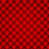 Red upholstery leather pattern background. — Stock Vector