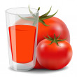 Tomato juice — Stock Vector