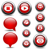 Set of buttons — Stock Vector