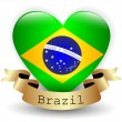 Heart with Brazil flag — Stock Vector #43846013