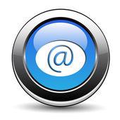 Botón e-mail — Vector de stock