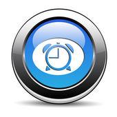 Clock button — Vector de stock