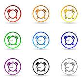 Saati Icons set — Stok Vektör