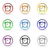 Set clock icons — Stock Vector
