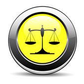 Justice icon — Stock Vector