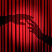 Silhouette of hands — Stock Vector