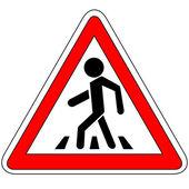 Crosswalk sign — Stock Vector
