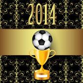 Футбольный мяч и трофей фон — Cтоковый вектор